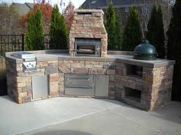 picture of easy custom big green egg island with twin eagles