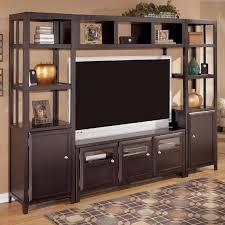furniture exquisite brown wooden tv stand cabinet combine open