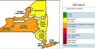upstate ny map air quality alerts issued for upstate ny as heat sun create high