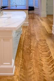 curly birch wide plank flooring in a newport california