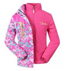 roseate girls 3 in 1 jacket with fleece liner outdoor