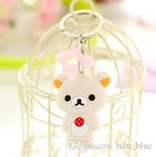 fashion accessories keychains big eyes animals plush doll key