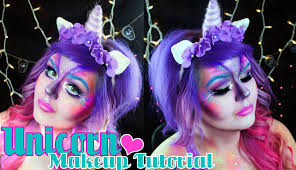 unicorn halloween makeup tutorial youtube