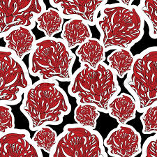 Flower Fabric Design Abstract Background With Red Flowers Creative Vector Wallpaper