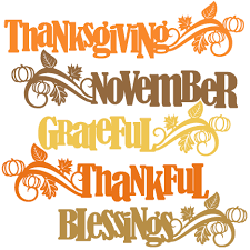 thanksgiving word titles svg scrapbook cut file clipart files