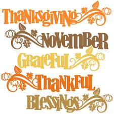 thanksgiving word titles svg scrapbook cut file clipart files