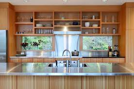 glass shelf between kitchen cabinets kitchens with open shelving pictures and advice