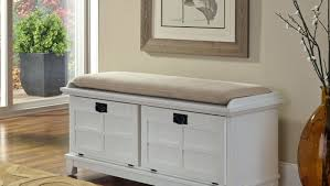 wood storage bench with cushion ivory painted storage bench with
