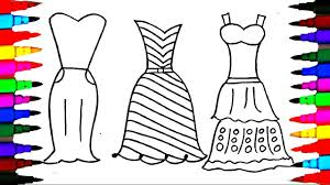 coloring pages dresses girls polkadots drawing pages