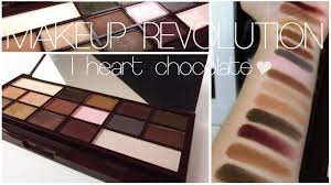 heart chocolate revue makeup revolution palette i heart chocolate