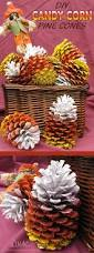 diy candy corn pine cones a fun fast and inexpensive craft to