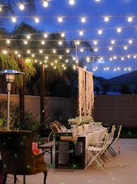 prefer not perfectly lines of lights great outdoor patio