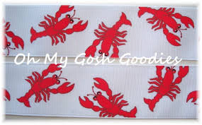 saints ribbon crawfish grosgrain crawfish creole cajun crawfish sw