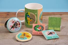 british birds design exclusive to puckator and featured on compact
