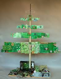 christmas christmas tree made from old computer parts very cool