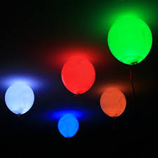 led balloons 10 pc variety colors