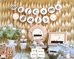 Baby Shower Theme Decorations Baby Shower Party Ideas Etsy