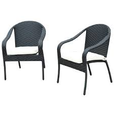 Wicker Patio Lounge Chairs Outsunny 01 0615 2pk Outdoor Rattan Wicker Patio Lounge Chairs Black