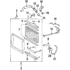 lexus is300 parts diagram parts com lexus is300 radiator components oem parts