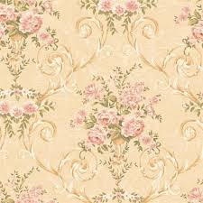 Floral Shabby Chic Wallpaper by Nausett Floral Damask Wallpaper Shabby Chic Style Wallpaper