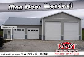man door monday dimensions 30 u0027 w x 50 u0027 l x 16 u0027 h id 102 with