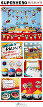 superhero baby shower party printable package u0026 invitation