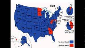 1980 Presidential Election Map by History Of The 1980 Presidential Election Part 2 Youtube