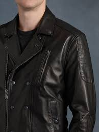 biker jacket sale john varvatos trapunto stitched biker jacket in black for men lyst