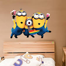 cartoon wall stickers despicable me sticker for home decoration cartoon wall stickers despicable me sticker for home decoration kids wall decorative children room dhl free cartoon wall stickers despicable me sticker home