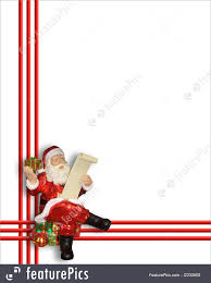 santa claus christmas border illustration