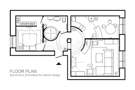 Floor Plan Of A House Design Architectural Plan Of A House Layout Of The Apartment Top View