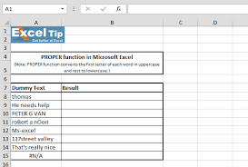 converting text to its proper case microsoft excel tips from