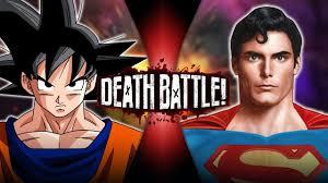 goku superman death battle