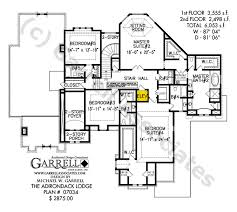 floor plans for craftsman style homes adirondack lodge house plan house plans by garrell associates inc