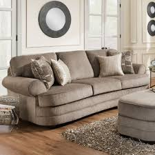 Transitional Sofas Furniture Simmons Upholstery 9255br Transitional Sofa With Rolled Arms