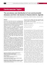 the prevalence and distribution of non communicable diseases and