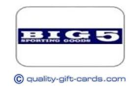 5 gift cards sell big 5 gift card 52 quality gift cards