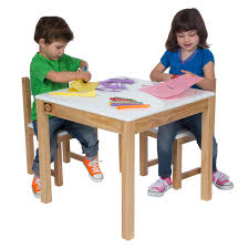 wooden table and chair set white easels u0026 tables by alex toys