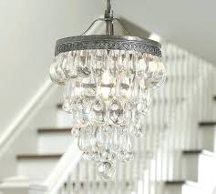 Small Glass Chandeliers Pottery Barn Clarissa Chandelier Drops For Chandeliers