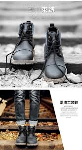 motorcycle boots men winter men boots warm genuine leather retro boots with fur