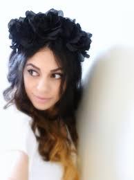 headband floral black headband flower headband floral crown black