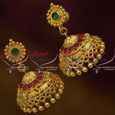 buy jhumka earrings online j9954 leaf design handmade south indian back jhumka earrings
