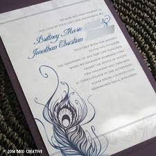peacock invitations creative wedding invitations peacock feather theme wedding