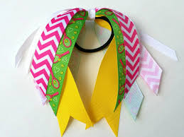 ribbon streamers yellow and pink tennis ribbon streamers tennis hair bow