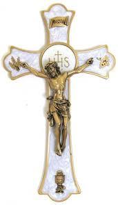 crucifix wall crucifix wall holy mass crucifix 8 inch pewter enameled