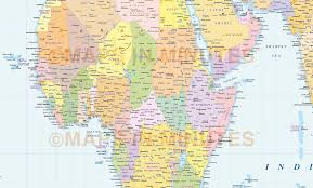 Political World Map Digital Vector World Map Gall Orthographic Projection Political