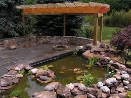 koi pond and fire pit landscape photos pinterest backyard