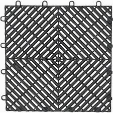 shop gladiator 4 piece 12 in x 12 in charcoal tread plate garage