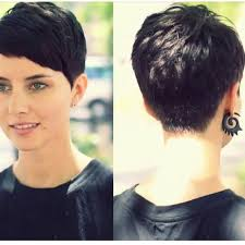 front and back views of chopped hair proper pixie cuts photo pinteres