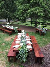 picnic table rentals farmhouse table rentals for weddings showers or any special occasion